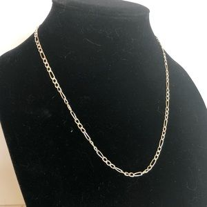 Italian 925 Figaro chain necklace